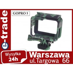 Camouflage protective frame without button for GoPro Hero 5