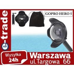 """Obudowa podwodna Dome Port 6"""" z osłoną przeciwsłoneczną do GoPro Hero 5"""