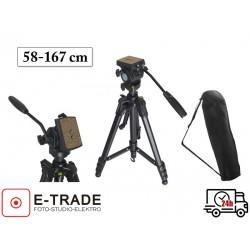 Statyw foto-video 58-167 cm - głowica 3D