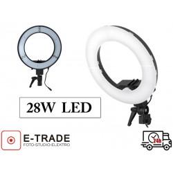 Lampa pierścieniowa LED 28W ze ściemniaczem i dyfuzorem