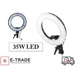 Lampa pierścieniowa LED 35W ze ściemniaczem i dyfuzorem