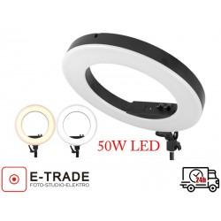 Lampa pierścieniowa LED 50W ze ściemniaczem i regulacją temperatury