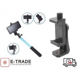 Uchwyt obrotowy do telefonu 55-100mm z możliwością montażu w pionie i poziomie