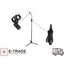 Profesjonalny statyw mikrofonowy 90-150 cm z giętkim ramieniem 30 cm