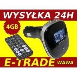 TRANSMITER FM STEREO Z ODTWARZACZEM MP3 4GB