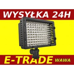 DIODOWA LAMPA DO KAMERY LED 126 VIDEO