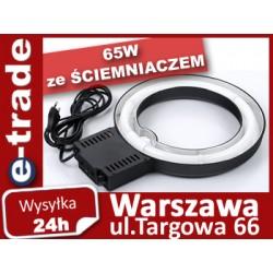 LAMPA PIERŚCIENIOWA 65W ze ŚCIEMNIACZEM