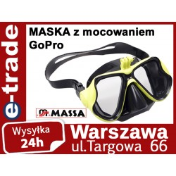 Maska do pływania z mocowaniem GoPro