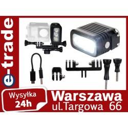 Lampa wodoodporna LED  akumulator GoPro Hero 3 3+ 4 Sjcam Xiaomi Yi
