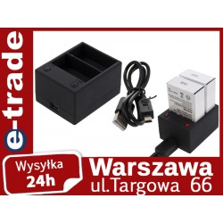 Ładowarka usb do GoPro Hero 3 na 2 akumulatory AHDBT301