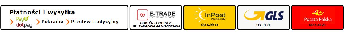 Sklep fotograficzny Warszawa E-trade - baner informacyjny